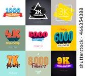 vector thanks design template... | Shutterstock .eps vector #466354388
