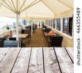 summer cafe terrace in the... | Shutterstock . vector #466355489
