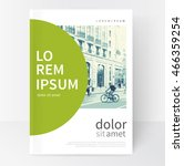 modern minimalistic white  ... | Shutterstock .eps vector #466359254