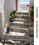 a stone stairway greek island... | Shutterstock . vector #466362