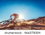 man braking the bicycle with... | Shutterstock . vector #466378304