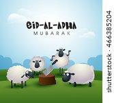 muslim community  festival of...   Shutterstock .eps vector #466385204