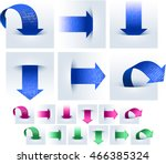 arrows upload and download data ... | Shutterstock .eps vector #466385324