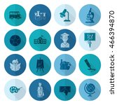 school and education icon set.... | Shutterstock . vector #466394870