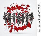 children running  stop child...   Shutterstock .eps vector #466398296