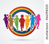 children running  designed...   Shutterstock .eps vector #466398320