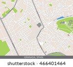 vector color map of granada ... | Shutterstock .eps vector #466401464