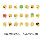 set of  cartoon emoticon vector ... | Shutterstock .eps vector #466404248