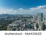 modern cityscape  overlook from ... | Shutterstock . vector #466410620