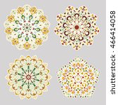set of vector mandalas. round... | Shutterstock .eps vector #466414058