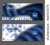 gift voucher. vector ... | Shutterstock .eps vector #466414274