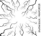 vector set of cracks for...   Shutterstock .eps vector #466418018