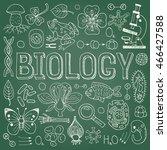 biology hand drawn vector... | Shutterstock .eps vector #466427588