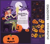 happy halloween set  ... | Shutterstock .eps vector #466430900