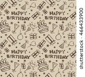 birthday pattern with gifts ... | Shutterstock .eps vector #466433900