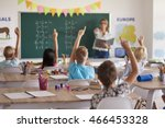 students knowing the right... | Shutterstock . vector #466453328