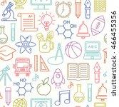 seamless vector school...   Shutterstock .eps vector #466455356