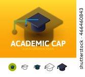 academic cap color icon  vector ...   Shutterstock .eps vector #466460843