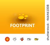 footprint color icon  vector...