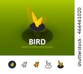 bird color icon  vector symbol...