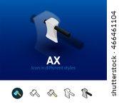ax color icon  vector symbol in ...