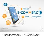 e commerce concept and... | Shutterstock .eps vector #466463654