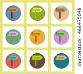 flat icons set of back to... | Shutterstock .eps vector #466475048