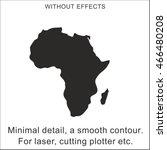 africa silhouette. the minimum... | Shutterstock .eps vector #466480208