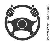 car steering wheel  isolated... | Shutterstock .eps vector #466488068