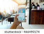 bangkok  thailand in coffee... | Shutterstock . vector #466490174