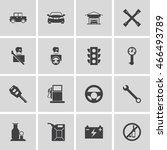 car repair shop icons | Shutterstock .eps vector #466493789
