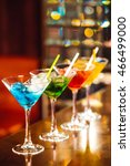 multicolored cocktails at the... | Shutterstock . vector #466499000