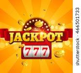 jackpot 777 gambling poster...   Shutterstock .eps vector #466501733