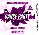 night dance party design... | Shutterstock .eps vector #466501754