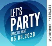 lets party design poster... | Shutterstock .eps vector #466501856