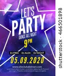 lets party design poster. night ...   Shutterstock .eps vector #466501898