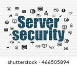 security concept  painted blue... | Shutterstock . vector #466505894