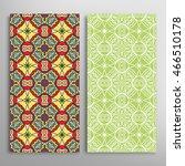 vertical seamless patterns set  ... | Shutterstock .eps vector #466510178