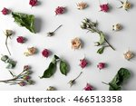 Dried Rose Buds On White...