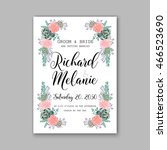 wedding invitation or card with ... | Shutterstock .eps vector #466523690