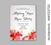 wedding invitation or card with ... | Shutterstock .eps vector #466523720