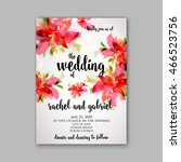 wedding invitation or card with ... | Shutterstock .eps vector #466523756