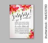 wedding invitation or card with ... | Shutterstock .eps vector #466523783