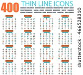 set of thin line icons for... | Shutterstock .eps vector #466528310