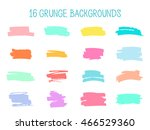 grunge backgrounds. set of... | Shutterstock . vector #466529360