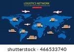 global logistics network.... | Shutterstock .eps vector #466533740