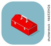retro red box for carrying... | Shutterstock .eps vector #466535426