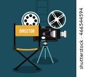 video camera movie film reel... | Shutterstock .eps vector #466544594
