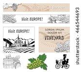 vineyard travel banner assets... | Shutterstock .eps vector #466544693