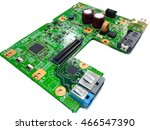 close up pcb board circuit and... | Shutterstock . vector #466547390